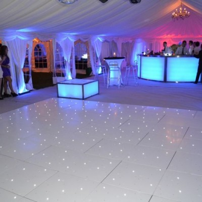 All White Marquee With Effect Lighting